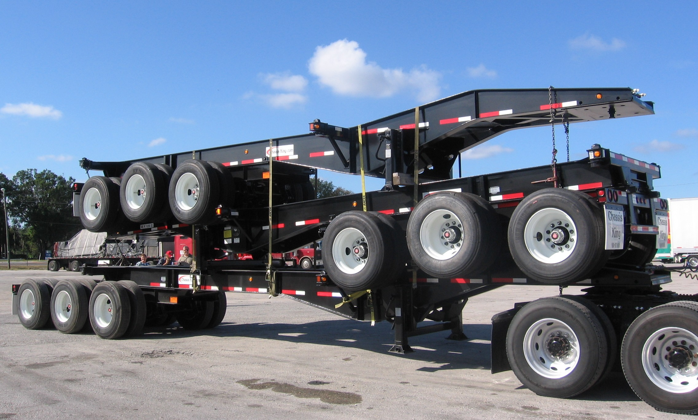 20ft tri axle chassis