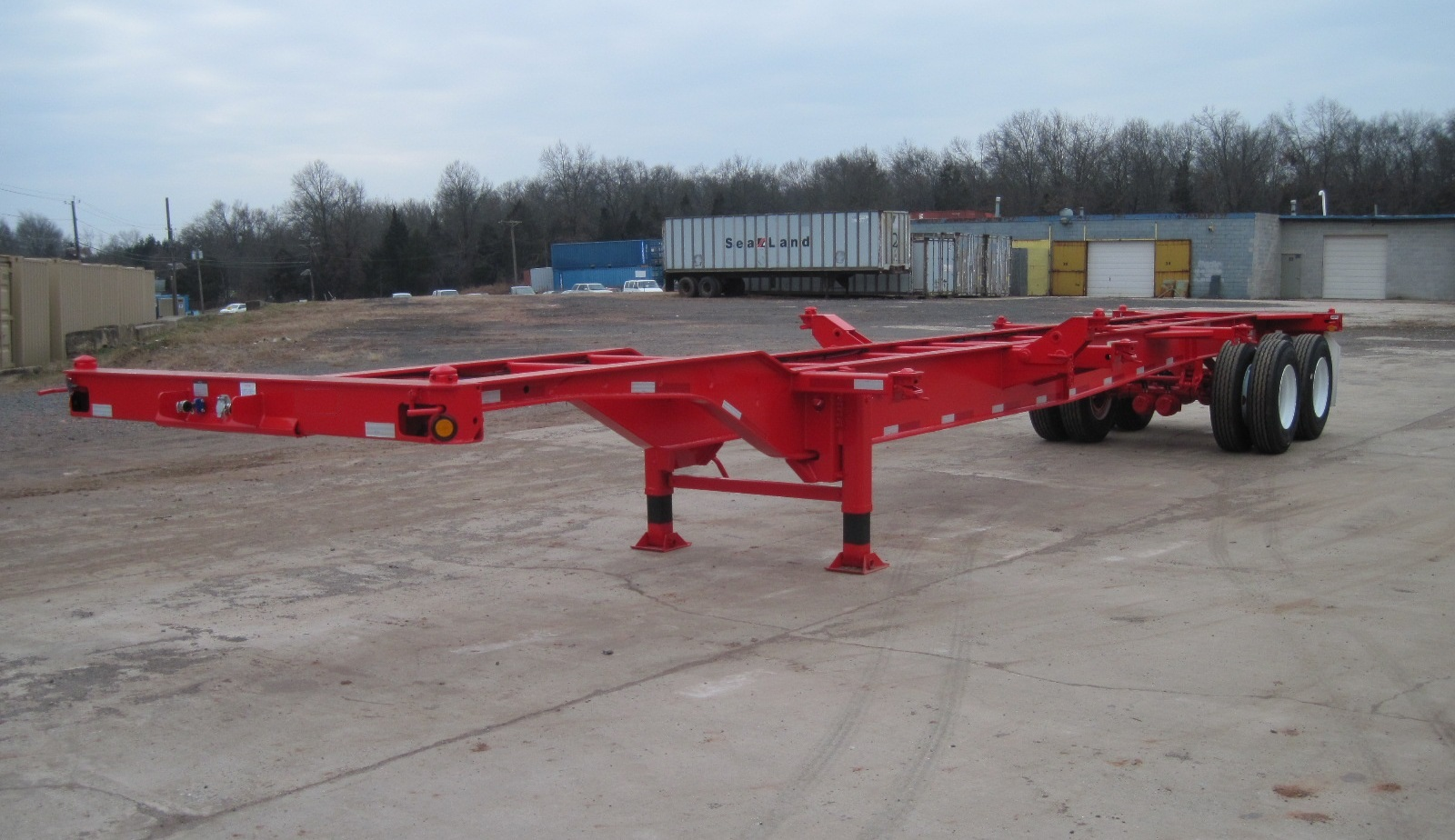 Container Chassis Handle : Foot gooseneck pin chassis chassisking