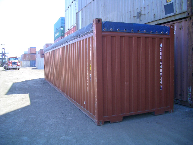 40 foot open top container. Black Bedroom Furniture Sets. Home Design Ideas