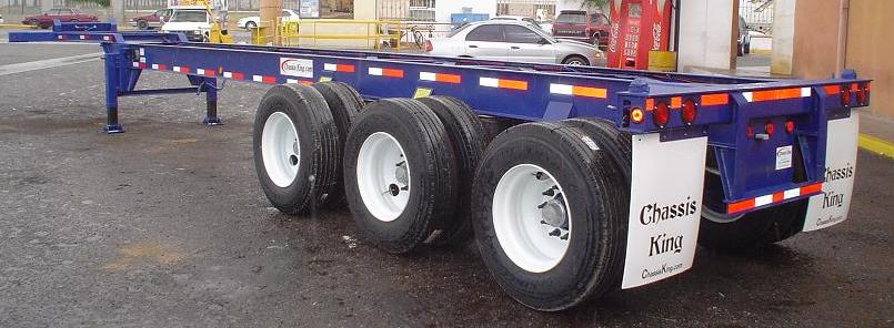 Scratch Built Tri Axle Semi Tractor Truck : Foot tri axle container chassis chassisking