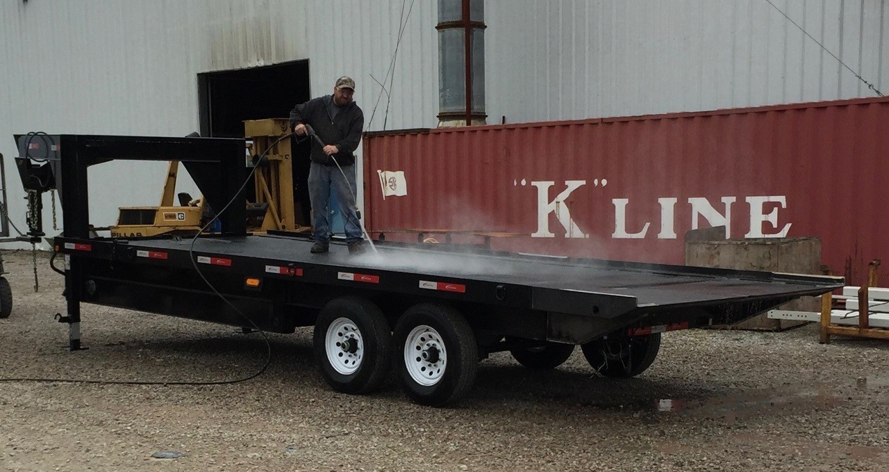 Hydraulic Tilt Bed Container Delivery Trailers