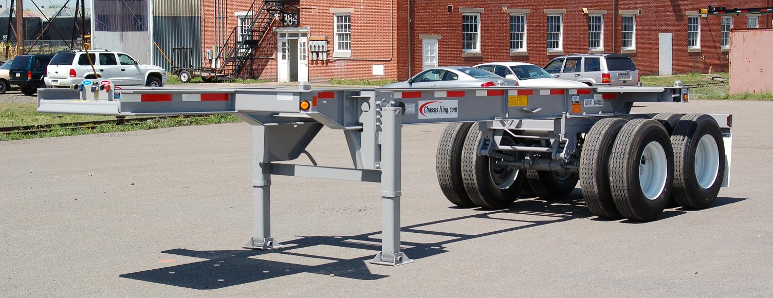 Container Chassis Landing Gear : Foot container trailer dimensions