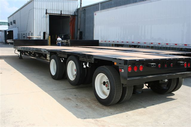 With Drop Axle Semi : Steel drop deck trailers chassisking
