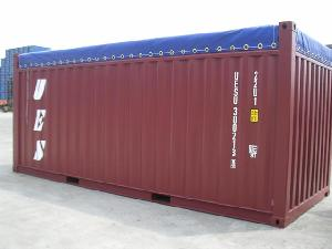 Side of 20ft Open Top Container