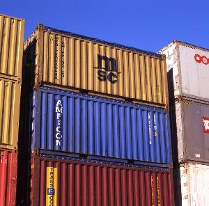 Stack of 20ft Open Top Containers