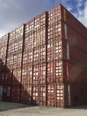 Stack of 40 Foot Containers