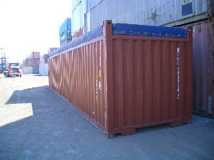 Front of 40ft Open Top Container
