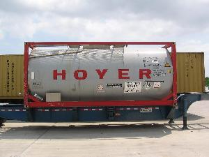 20ft Tank Container on Tank Chassis