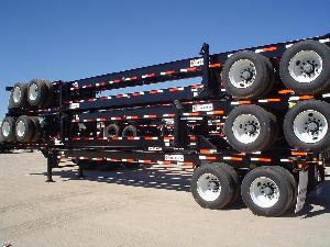 40 Foot GN chassis stacked for transport